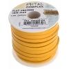 Flat Leather 5X2mm (10m Spool) Yellow